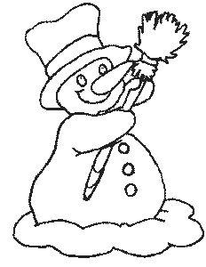 Výsledek obrázku pro omalovánka sněhulák
