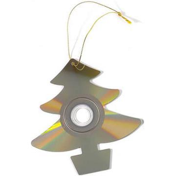 Vánoční ozdoby ze starých cd ček