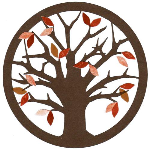 Podzimní výzdoba oken z papíru