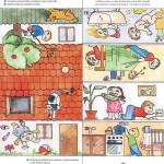 strihani vytvarna vychova  : unn skladaci dum 150x150 Papírová skládačka   protiúrazový domeček