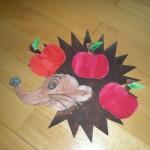 Ježek s jablíčky