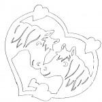 omalovanky vymalovanky  : kaa srdce 150x150 Vystřihovánky zvířátek