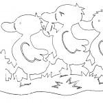 omalovanky vymalovanky  : kacenky 150x150 Vystřihovánky zvířátek