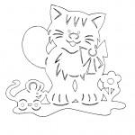 Kočička s myškou