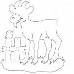 omalovanky vymalovanky  : koza 150x150 Vystřihovánky zvířátek