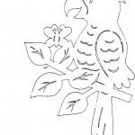 omalovanky vymalovanky  : papouaek 150x150 Vystřihovánky zvířátek znovu