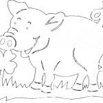 omalovanky vymalovanky  : prasatko 150x150 Vystřihovánky zvířátek znovu