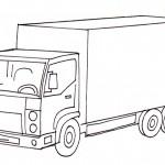 omalovanky vymalovanky  : auto nakladni 150x150 Auta, automobily, autíčka