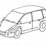 omalovanky vymalovanky  : auto osobni 150x150 Auta, automobily, autíčka