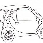 omalovanky vymalovanky  : auto smart 150x150 Auta, automobily, autíčka