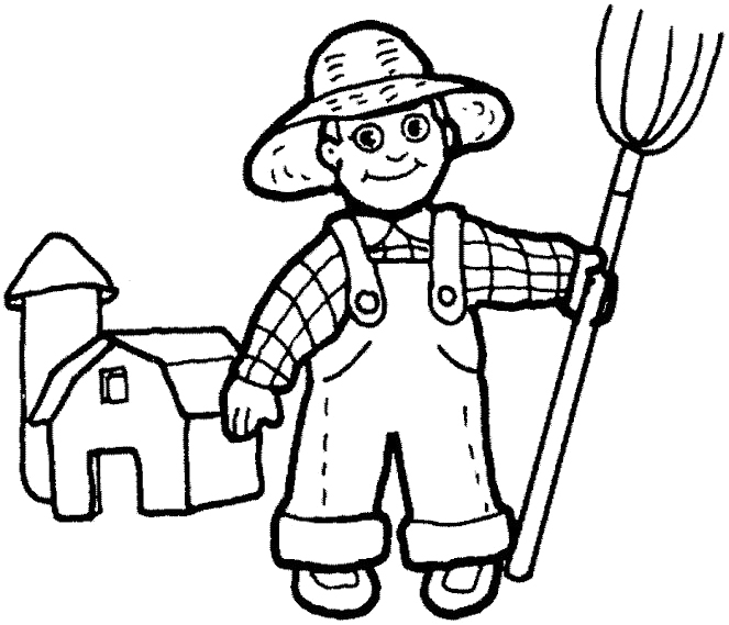 coloring pages of farmers - photo#9