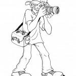osoby omalovanky  : fotograf 150x150 Povolání