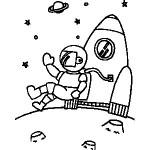 osoby omalovanky  : kosmonaut 150x150 Povolání