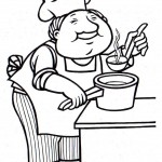 osoby omalovanky  : kuchar 150x150 Povolání