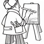 osoby omalovanky  : malir umelec 150x150 Povolání
