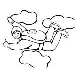 osoby omalovanky  : parasutista 150x150 Povolání