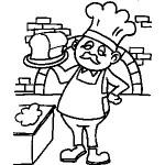osoby omalovanky  : pekar 150x150 Povolání