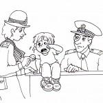 osoby omalovanky  : policistka 150x150 Povolání