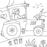 osoby omalovanky  : traktorista 150x150 Povolání