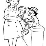 osoby omalovanky  : zdravotni sestricka 150x150 Povolání