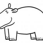 zvirata omalovanky  : zviratka hroch 150x150 Zvířátka A Ž