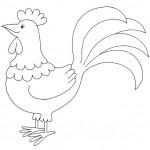 zvirata omalovanky  : zviratka kohout 150x150 Zvířátka A Ž