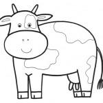 zvirata omalovanky  : zviratka krava 150x150 Zvířátka A Ž