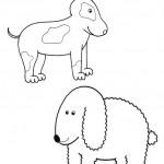 zvirata omalovanky  : zviratka pes 150x150 Zvířátka A Ž