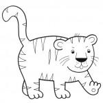 zvirata omalovanky  : zviratka tygr 150x150 Zvířátka A Ž