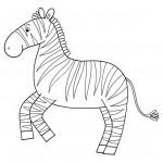 zvirata omalovanky  : zviratka zebra 150x150 Zvířátka A Ž
