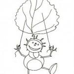 podzimni omalovanky  : panacci z kastanu 038 150x150 Panáčci z kaštanů a listí