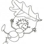 podzimni omalovanky  : panacci z kastanu 044 150x150 Panáčci z kaštanů a listí