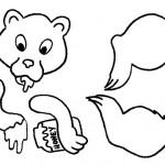 zvirata  : wc medved 150x150 Zvířátka z ruliček od toaletního papíru