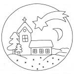 zima omalovanky vanoce omalovanky  : zima vanoce domecek 150x150 Zima a Vánoce
