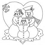 zima omalovanky vanoce omalovanky  : zima vanoce rodinka 150x150 Zima a Vánoce