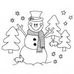 zima omalovanky vanoce omalovanky  : zima vanoce snehulak 150x150 Zima a Vánoce