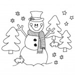 zima-vanoce-snehulak