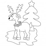 zima omalovanky vanoce omalovanky  : zima vanoce sob stromek 150x150 Zima a Vánoce