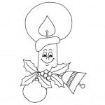 zima omalovanky vanoce omalovanky  : zima vanoce svicka 150x150 Zima a Vánoce