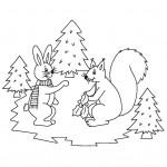 zima omalovanky vanoce omalovanky  : zima vanoce zviratka 150x150 Zima a Vánoce