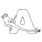 zvirata omalovanky abeceda omalovanky  : alphabet aardvark 150x150 Zvířecí abeceda (anglická)