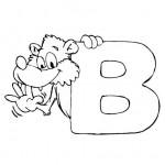 zvirata omalovanky abeceda omalovanky  : alphabet bear 150x150 Zvířecí abeceda (anglická)
