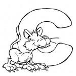 zvirata omalovanky abeceda omalovanky  : alphabet cat 150x150 Zvířecí abeceda (anglická)