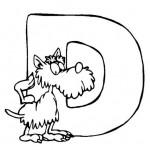 zvirata omalovanky abeceda omalovanky  : alphabet dog 150x150 Zvířecí abeceda (anglická)
