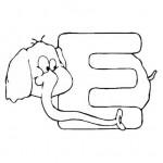 zvirata omalovanky abeceda omalovanky  : alphabet elephant 150x150 Zvířecí abeceda (anglická)