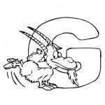 zvirata omalovanky abeceda omalovanky  : alphabet goat 150x150 Zvířecí abeceda (anglická)