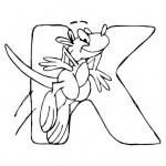 zvirata omalovanky abeceda omalovanky  : alphabet kangaroo 150x150 Zvířecí abeceda (anglická)