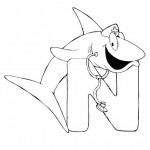 zvirata omalovanky abeceda omalovanky  : alphabet nurse shark 150x150 Zvířecí abeceda (anglická)
