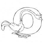 zvirata omalovanky abeceda omalovanky  : alphabet ostrich 150x150 Zvířecí abeceda (anglická)