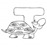 zvirata omalovanky abeceda omalovanky  : alphabet turtle 150x150 Zvířecí abeceda (anglická)